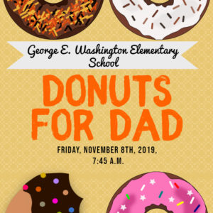 donuts for dad 2019 flyer